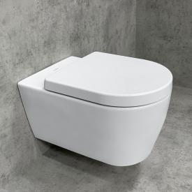 Duravit ME by Starck Wand-WC & Tellkamp Premium 4000 WC-Sitz SET: WC ohne Spülrand weiß, mit WonderGliss