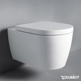 Duravit ME by Starck Wand-Tiefspül-WC Set, rimless, mit WC-Sitz weiß, mit HygieneGlaze