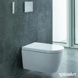 Duravit SensoWash® Starck f Lite Compact Dusch-WC Komplettanlage für Wandmontage, mit WC-Sitz ohne Zubehör