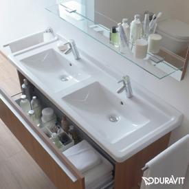 Duravit Starck 3 Doppelwaschtisch weiß, mit WonderGliss, mit 2 Hahnlöchern