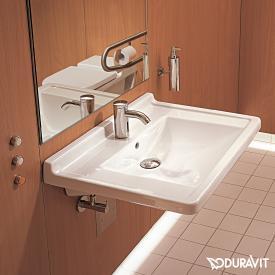 Duravit Starck 3 Waschtisch Vital, barrierefrei weiß, mit WonderGliss, mit 1 Hahnloch