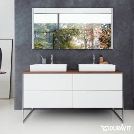 Duravit XSquare Konsole für 2 Aufsatz-/Einbauwaschtische amerikanischer nussbaum