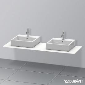 Duravit XSquare Konsole für 2 Aufsatz-/Einbauwaschtische weiß matt