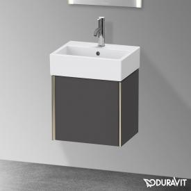 Duravit XViu Handwaschbeckenunterschrank mit 1 Tür graphit matt, Kante champagner matt, ohne Einrichtungssystem