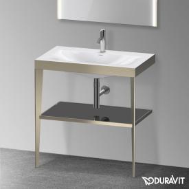 Duravit XViu Möbelwaschtisch mit Metallkonsole schwarz hochglanz/champagner matt