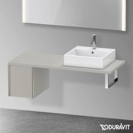 Duravit XViu Unterschrank für Konsole mit 1 Auszug betongrau matt, Kante champagner matt, ohne Einrichtungssystem