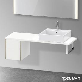 Duravit XViu Unterschrank für Konsole Compact mit 1 Auszug weiß matt, Kante champagner matt, ohne Einrichtungssystem