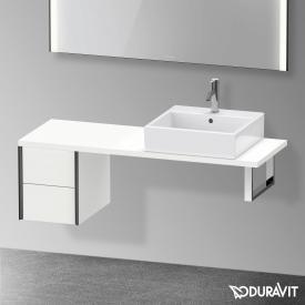 Duravit XViu Unterschrank für Konsole Compact mit 2 Auszüge weiß matt, Kante schwarz matt, ohne Einrichtungssystem