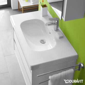 Duravit D-Code Möbelwaschtisch weiß, mit 1 Hahnloch, mit Überlauf