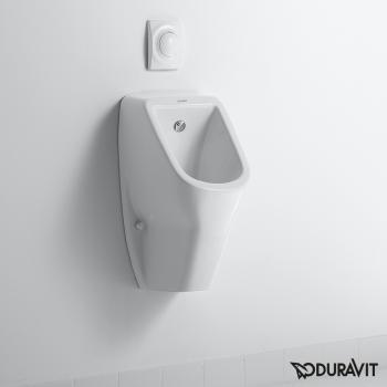 Duravit D-Code Urinal, rimless, Zulauf von hinten weiß
