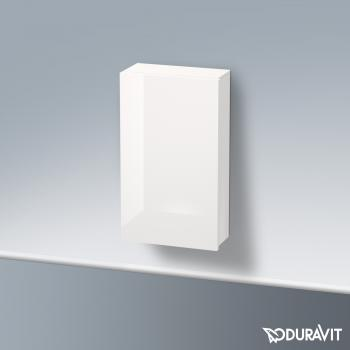 Duravit Delos Halbhochschrank mit 1 Tür Front weiß hochglanz / Korpus weiß hochglanz