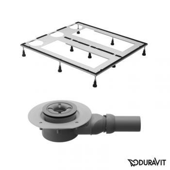 Duravit DuraSolid Duschwannen-Set L: 100 B: 100 cm