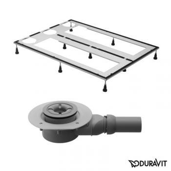 Duravit DuraSolid Duschwannen-Set L: 140 B: 100 cm