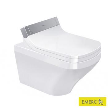 Duravit DuraStyle Wand-Tiefspül-WC Rimless mit SensoWash® Starck e WC-Sitz, Set weiß mit WonderGliss