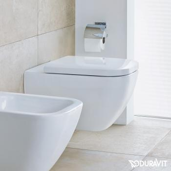 Duravit Happy D.2 Wand-WC, rimless weiß, mit WonderGliss