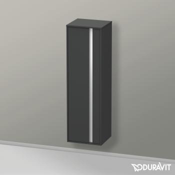 Duravit Ketho Halbhochschrank mit 1 Tür Front graphit matt / Korpus graphit matt