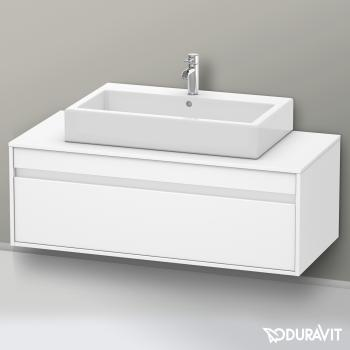 Duravit Ketho Waschtischunterschrank für Aufsatzwaschtisch mit 1 Auszug ohne Ausschnitt Front weiß matt / Korpus weiß matt