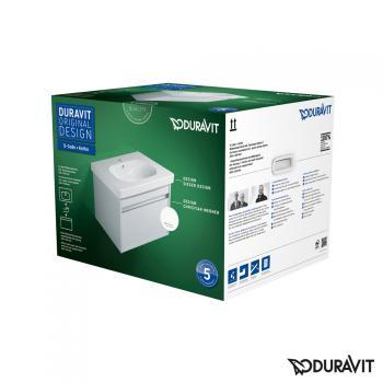 Duravit Ketho Waschtischunterschrank inkl. D-Code Waschtisch, wandhängend mit 1 Auszug Front weiß hochglanz / Korpus weiß hochglanz