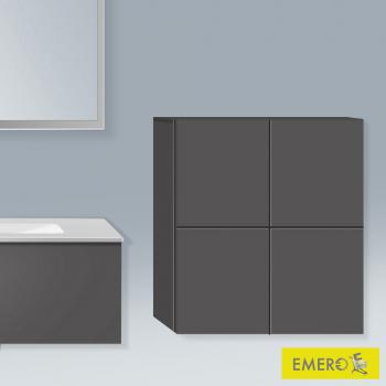 Duravit L-Cube Halbhochschrank mit 2 Türen Front graphit matt / Korpus graphit matt