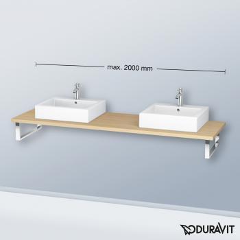 Duravit L-Cube Konsole für 2 Aufsatz-/Einbauwaschtische mediterrane eiche