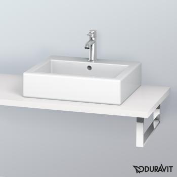 Duravit L-Cube Konsole für 1 Aufsatz-/Einbauwaschtisch weiß hochglanz