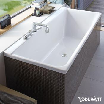 Duravit P3 Comforts Rechteck-Badewanne, Einbauversion oder Wannenverkleidung, mit Rückenschräge rechts