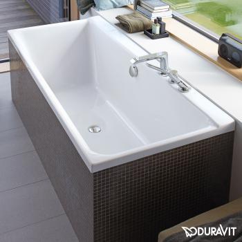 Duravit P3 Comforts Rechteck-Badewanne, Einbauversion oder Wannenverkleidung, mit Rückenschräge links