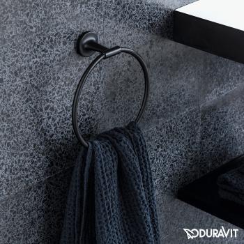 Duravit Starck T Handtuchring schwarz matt