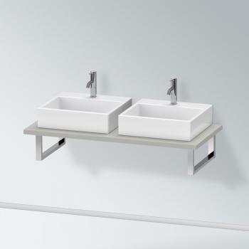 Duravit X-Large Konsole für 2 Aufsatz-/Einbauwaschtische betongrau matt