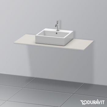 Duravit XSquare Konsole für 1 Aufsatz-/Einbauwaschtisch betongrau matt