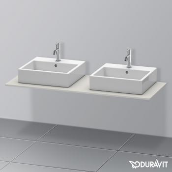 Duravit XSquare Konsole für 2 Aufsatz-/Einbauwaschtische betongrau matt