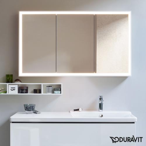 Duravit L-Cube Spiegelschrank mit LED-Beleuchtung ohne Waschplatzbeleuchtung