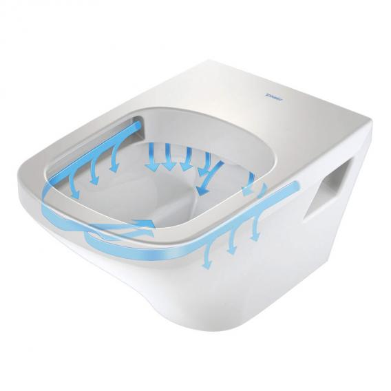 Duravit DuraStyle Wand-Tiefspül-WC ohne Spülrand, weiß, mit WonderGliss