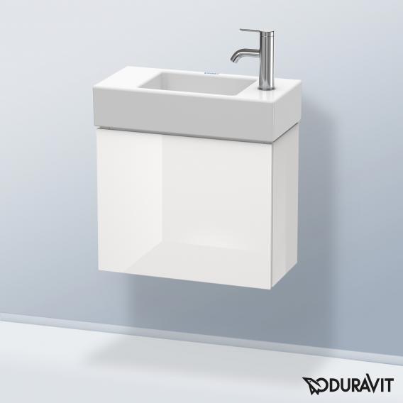 Duravit L-Cube Handwaschbeckenunterschrank mit 1 Tür Front weiß hochglanz / Korpus weiß hochglanz