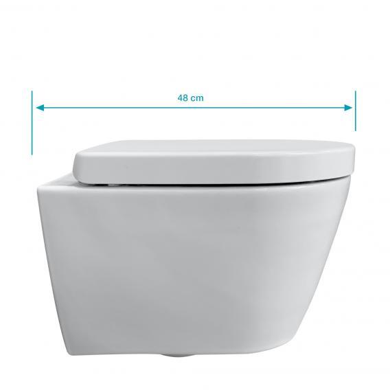 Duravit ME by Starck Wand-WC & Tellkamp Premium 4000 WC-Sitz SET kurz: WC ohne Spülrand, mit Zubehör weiß, mit WonderGliss
