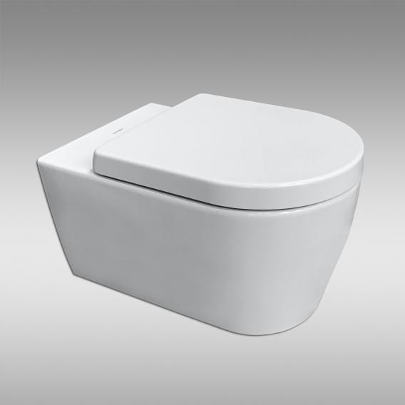 Duravit ME by Starck Wand-WC & Tellkamp Premium 4000 WC-Sitz SET: WC ohne Spülrand, mit Zubehör weiß, mit WonderGliss