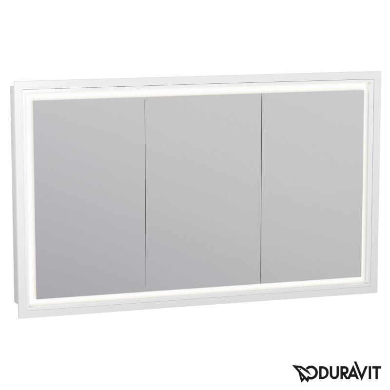 Sehr Duravit L-Cube Spiegelschrank mit LED-Beleuchtung, 3-türig IL86