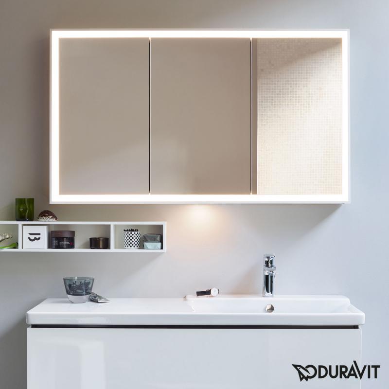 Relativ Duravit L-Cube Spiegelschrank mit LED-Beleuchtung mit WK26