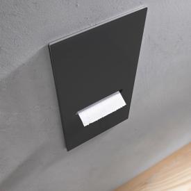 Emco Asis 2.0 Unterputz-WC-Papier-Modul schwarz