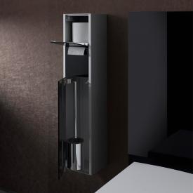 Emco Asis Aufputz-WC-Modul schwarz/aluminium