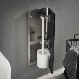 Emco Asis Pure Unterputz-Toilettenbürstengarnitur-Modul schwarz matt