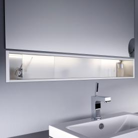 Emco Asis Unterputz-Ablagemodule beleuchtet satiniert/aluminium