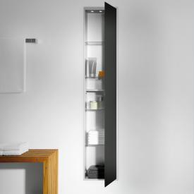 Emco Asis Unterputz-Schrankmodul schwarz/aluminium