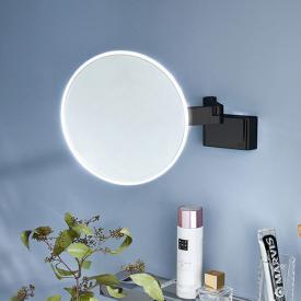 Emco Evo LED Rasier- und Kosmetikspiegel mit Direktanschluss und emco light system schwarz
