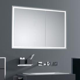 Emco Prestige Unterputz-Lichtspiegelschrank breite Tür links