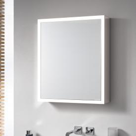 Emco Prime Aufputz LED-Lichtspiegelschrank aluminium/weiß