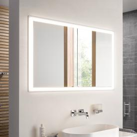 Emco Prime Unterputz LED-Lichtspiegelschrank mit Lichtpaket, 2 Türen aluminium/weiß