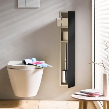 Emco Asis 2.0 Unterputz-WC-Modul schwarz, Anschlag rechts