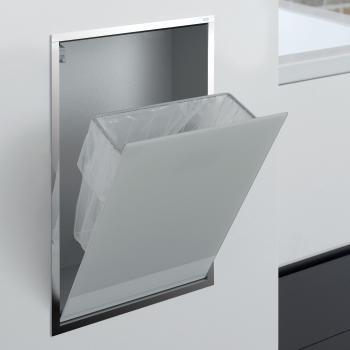 Emco Asis Unterputz-Abfallsammler-Modul optiwhite/chrom