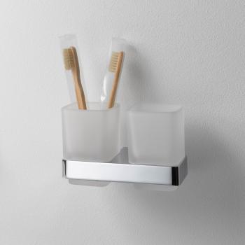 Emco Loft Doppelglashalter, Wandmodell chrom